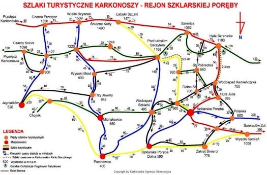 szlaki-szklarska-poręba-mapa